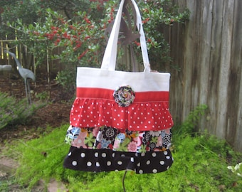 Dots Everywhere Ruffle Tote Bag