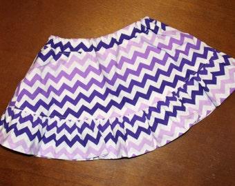 12-18 Months - Purple Chevron Skirt