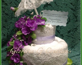 Spring Bridal Wishes Towel Cake
