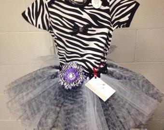 Zebra themed tutu & onesie