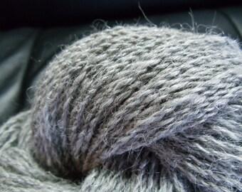 Handspun llama yarn