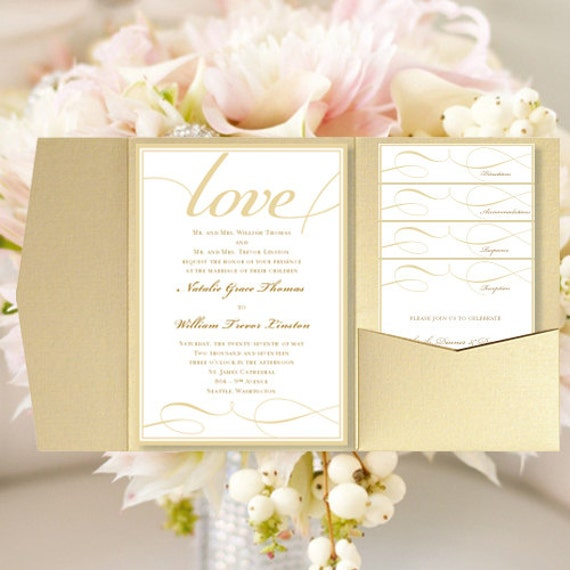 Print Your Own Wedding Invitations Templates: DIY Pocket Wedding Invitations It's Love By WeddingTemplates