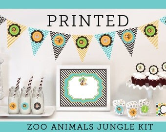 Zoo Animal Birthday Decorations Jungle Animal Baby Shower King of the Jungle Baby Shower Jungle Animal Party Decorations KIT (EB4000ZAN)