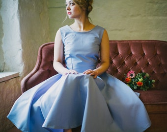 Handmade Pastel Vintage Cotton Bridesmaid dress by LUCILLE