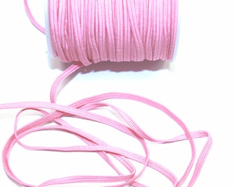 "1/8"" Skinny Bright Pink Elastic 5 Yards"