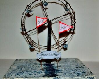 Circus Ferris Wheel wire sculpture
