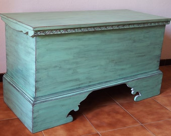 Old looking green Chest