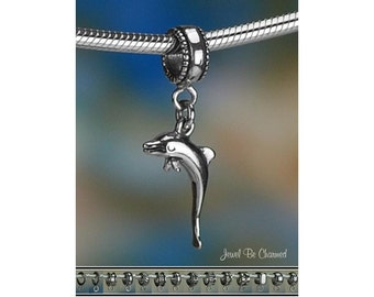 Dolphin Charm or European Style Charm Bracelet .925 Sterling Silver