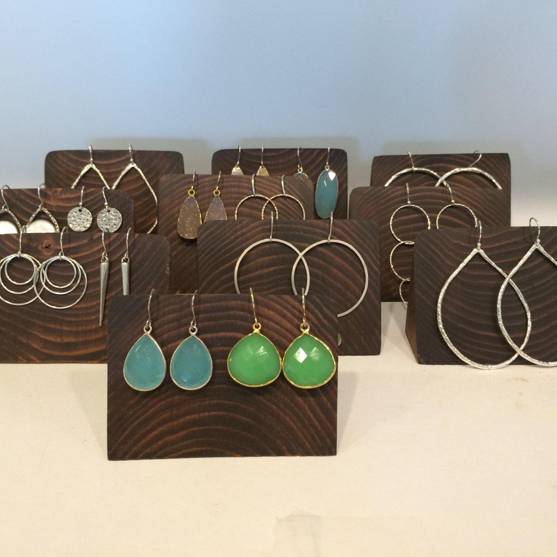 Custom Jewelry Display Frame: 8 Custom Wood Jewelry Boutique Displays 2 Tall X3.5