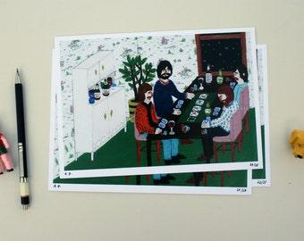 POKER NIGHT * limited edition -  UV Fine Art Print