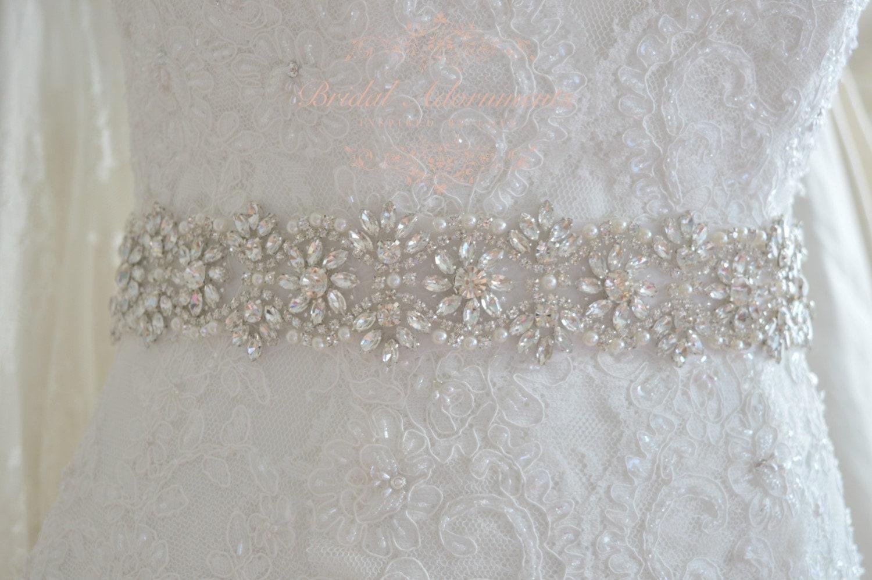 Crystal bridal sash wedding dress Belt rhinestone bridal
