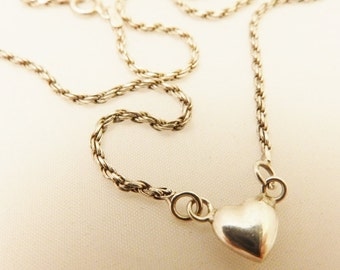 Sterling Silver Small Heart Pendant Neclace