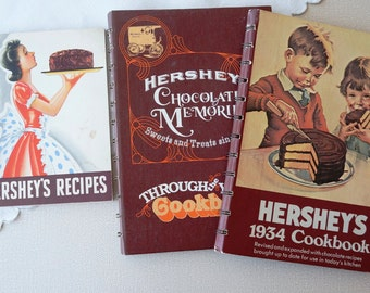 Vintage Hershey's Cookbooks from 1940, 1971 and 1982