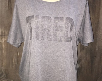 Tired Flowy Triblend Tee