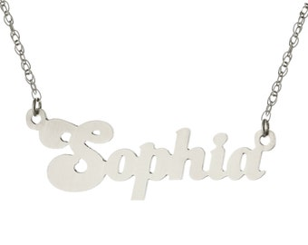 Oxidized 925 Sterling Silver Personalized Custom Made Any Nameplate Pendant Necklace