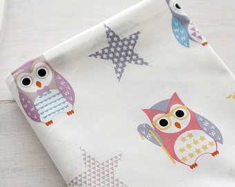 Cotton Fabric Owl By The Yard