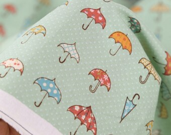 Cotton Fabric Umbrella Mint By The Yard