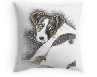Jack Russell Terrier Pillow 40 x 40 cm - Dog Puppy