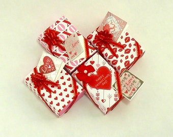 Large Valentine gift box, with card attached.