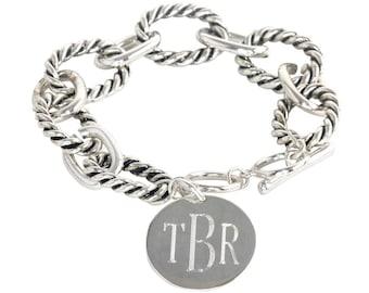Monogram Silver Henson Bracelet