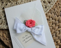 45th Wedding Anniversary Gift Ideas For Husband : Handmade Anniversary Card Coral 35th Wedding Mum Dad Wife Husband ...