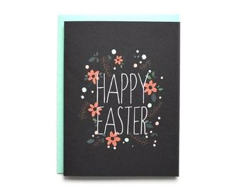 Botanical Happy Easter Card