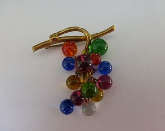 Antique/Vintage French Bunch of grapes brooch from the 1920's