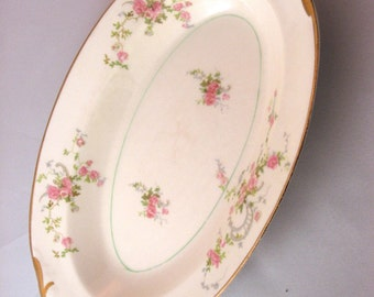 1950s vintage Gwendolyn by Pope Gosser oval vegetable serving dish