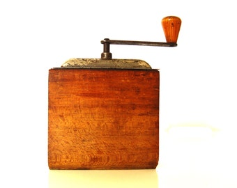 Vintage Wooden  Coffe Mill
