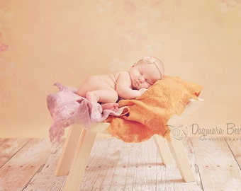Curved wooden bench, photography newborn prop, kids prop,