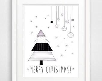 merry christmas greeting card printable card christmas card christmas quote christmas printable