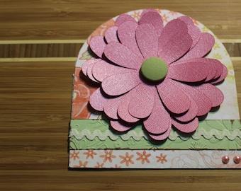 Handmade Customized 3D Flower Card