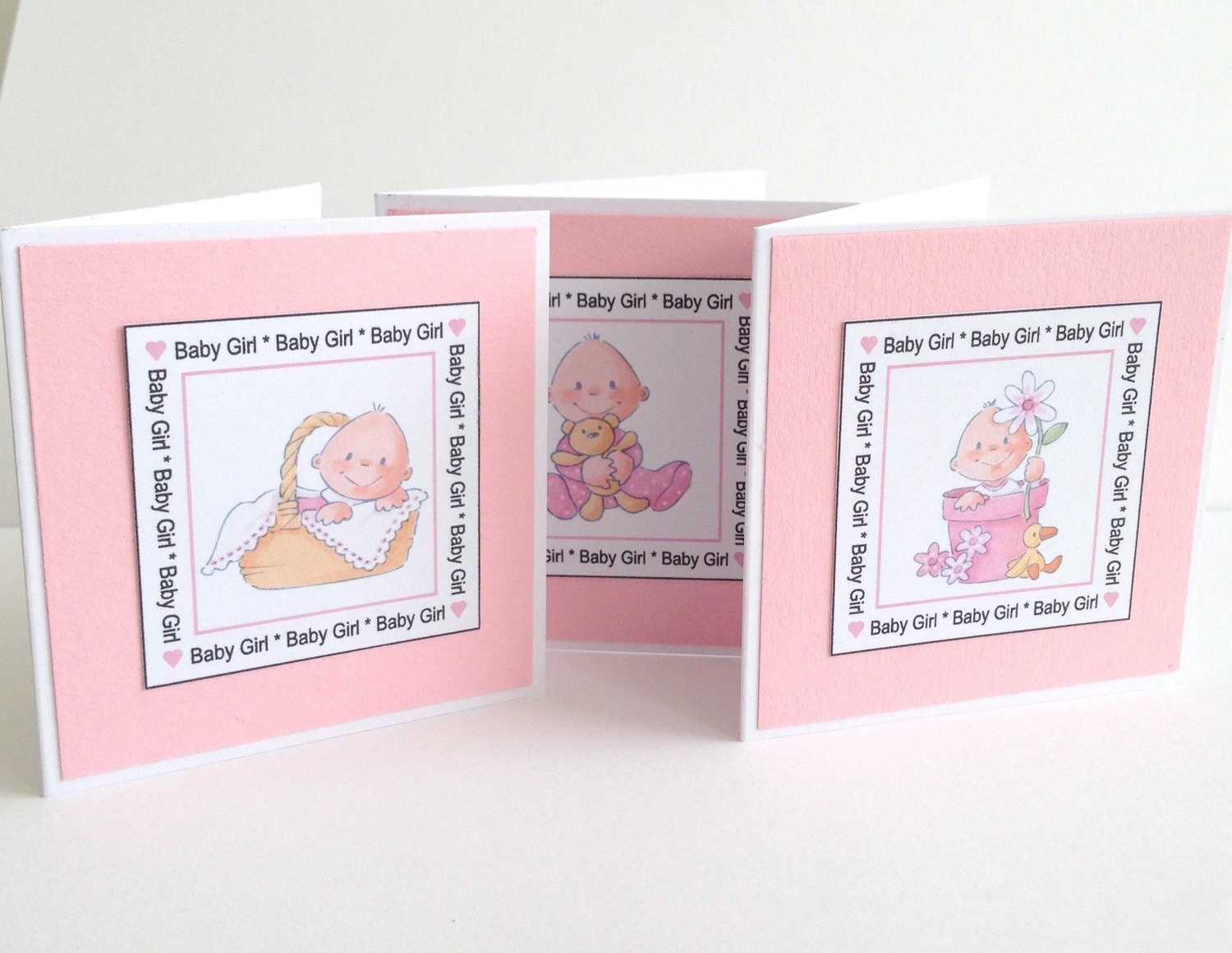 Baby Boy Gift Thank You Cards : Cute mini baby boy shower thank you cards invitations birth