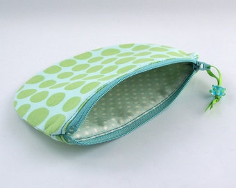 gift for her, make up bag, toiletry bag, cosmetic bag, zipper fabric pouch, clutch purse,
