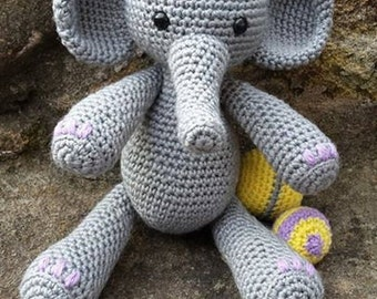 Crochet Elephant soft toy ONLY - Photo prop