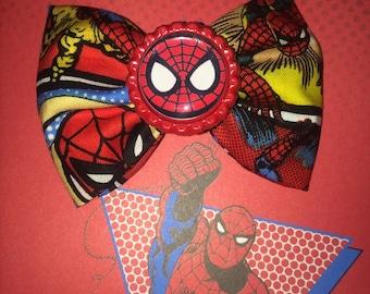 Spiderman hair bows / super hero hair bows