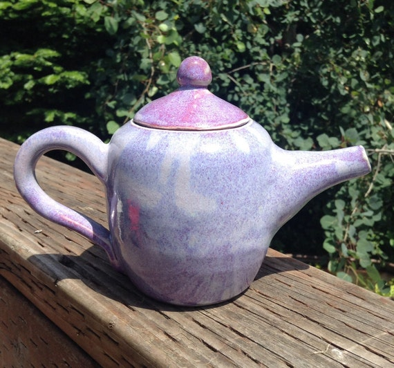 purple loose leaf teapot by redlotuspottery on etsy. Black Bedroom Furniture Sets. Home Design Ideas