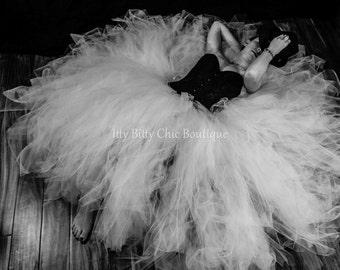 Adult Any Color Full-Length Romantic Long Ballroom Tutu Tulle Skirt Weddings Maternity Photo Prop Dress-Up Prom Bridal Engagement