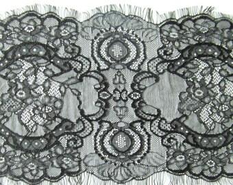 Cathedral Length Eyelash Lace Edge Mantilla Wedding Veil | Lace Bridal Veil | Lace Wedding Veil | Cathedral Lace Veil | Vintage Veil |3052