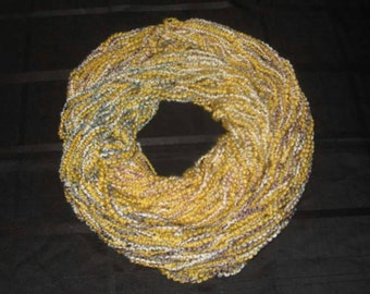 Yellow Variegated Arm Knit Infinity Scarf