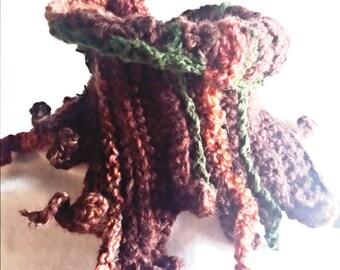 Octopus, Cowl Neck Warmer,OOAK Wearable art,Boho Fashion.