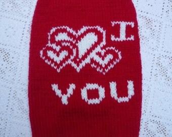 Valentines dog sweater