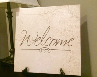 Welcome---Ceramic Tile