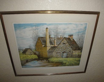 Lithograph Landscape Print by Don Whitlatch Signed and Numbered