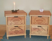 handmade rustic wine box furniture par boisrustique sur etsy. Black Bedroom Furniture Sets. Home Design Ideas