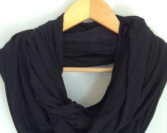 Solid Black Nursing Scarf, Nursing Cover, Breastfeeding Cover