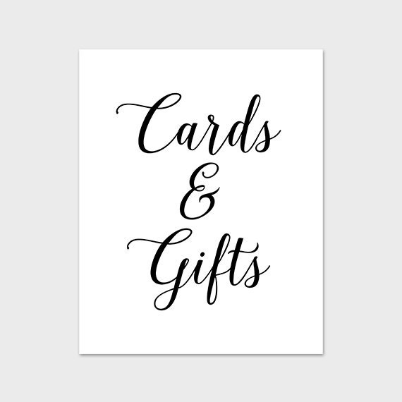 Printable Wedding Gift Card Free : ... Print, Wedding Printable, Gift Table Sign, Cards and Gifts Print