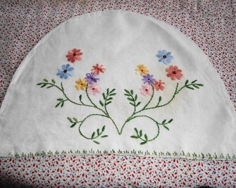 Embroidered vintage tea cosy cover from England