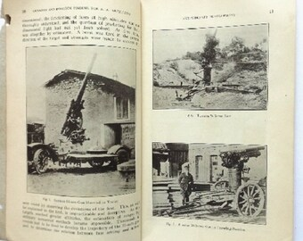 Gunnery and Position Finding for Antiaircraft Artillery, Coast Artillery Journal, 1st Edition 1925, illustrated, photographs, Military Book