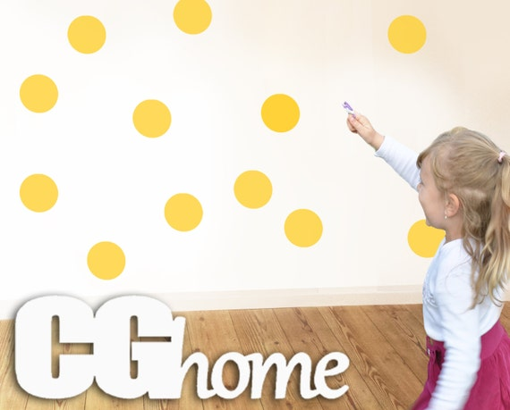 confetti wall 4 inches 80 DOTS polka rainbow circle wall copper DECAL 10 colors wall stickers for kids CGHOME multicolor